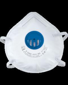 Półmaska filtrująca wielokrotnego użytku z zaworem X 100 V FFP1 R D, 10 szt.
